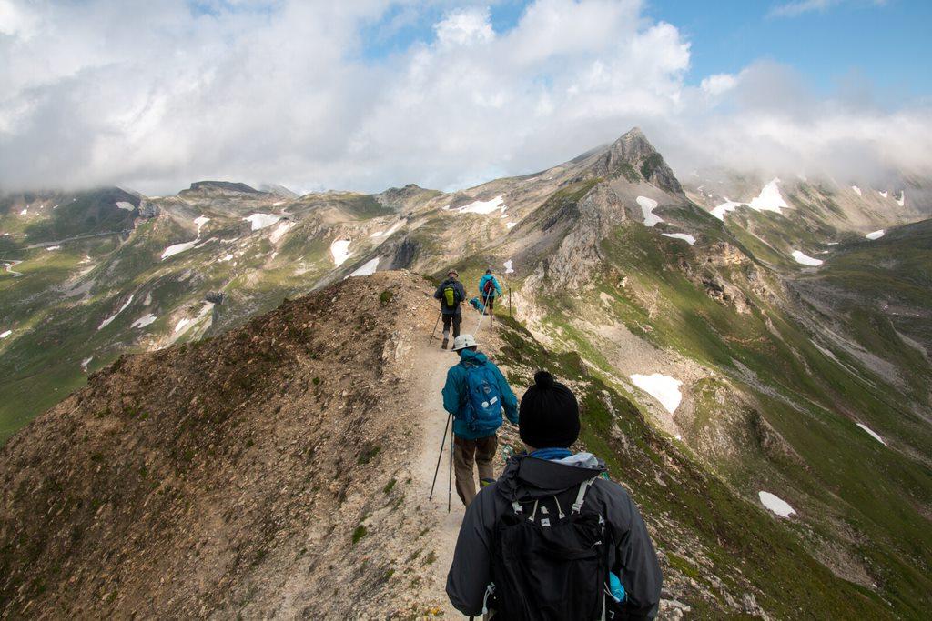 På tur i bjergene